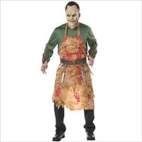 Dorosłych Bloody Ameryka Europejskiej Kucharz Rzeźnik Kostium Dorosły Mężczyzna Halloween Cosplay Mężczyzna Krwi Kostium Zombie Ubieranie