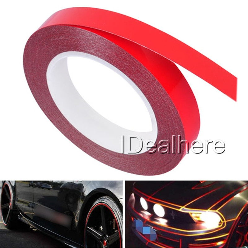 Mayitr 1x900cm Car Reflective Tape Sticker Auto Decoration Film Motorcycle Safe Material Warning Tape Car-Styling Red Blue