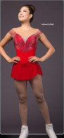 figure ice skating dress red women competition skating dresses for girls custom ice skating dress girls free shipping