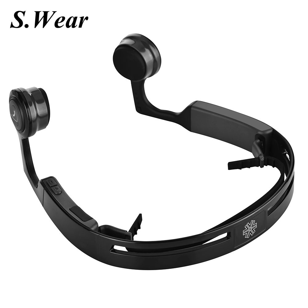 New S.Wear Mix 8 Wireless Bluetooth Bone Conduction Headset Handfree Earphone Sports Headphones With Mic For Android IOS phone novelty intelligent shake control unti sleep bluetooth bone conduction earphone headset with polarized lenses for car driving