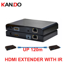 373IR HDMI Extender over Cat5e/6 with IR(HDMI extender over lan) up to 120M HDMI extension HDMI BOX AUDIO video adapter