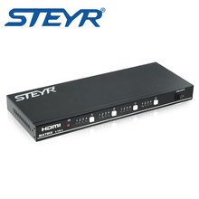 STEYR HDMI Matrix 4×4 Switch Splitter 4 Input 4 Output True Matriz Switch Support 1920×1080 at 60hz 3D with RS232,remote control