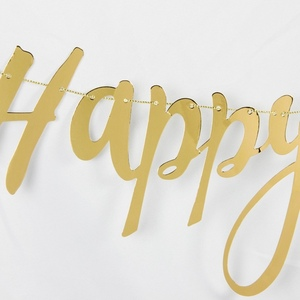 Image 5 - Pack Of 1pc Glitter Gold Happy Birthday Banner For Boys Girls Happy Birthday Decoration Kids First Birthday Decorations