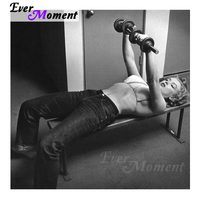 Ever Moment Diamond Painting 5D DIY Marilyn Monroe Painting for Workout Room Diamond Embroidery Black and White Style ASF1074