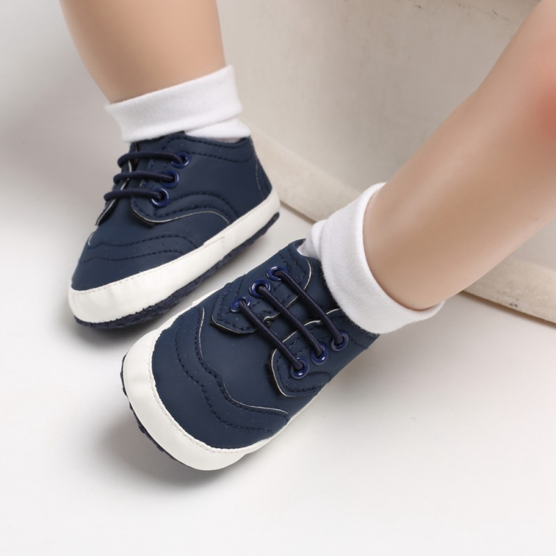 Hot Sale Spring Toddler Boys Classic Casual Shoes PU Leather Breathable Soft Pre-walking Shoes 2019 New-arrival Baby Shoes