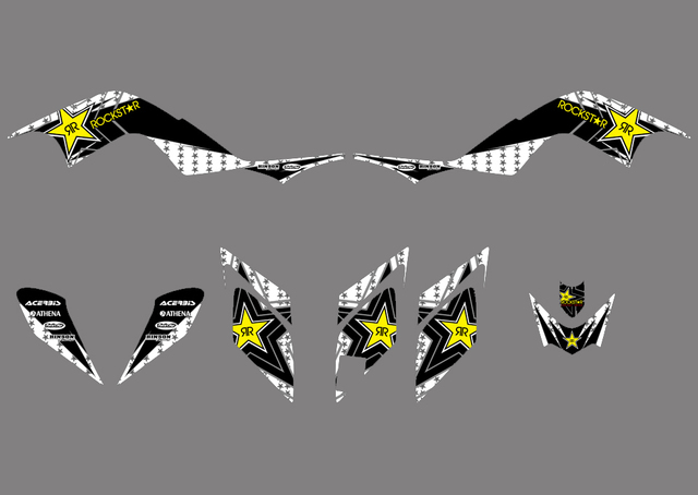 New STYLE TEAM DECALS STICKERS Graphics Kits for Yamaha