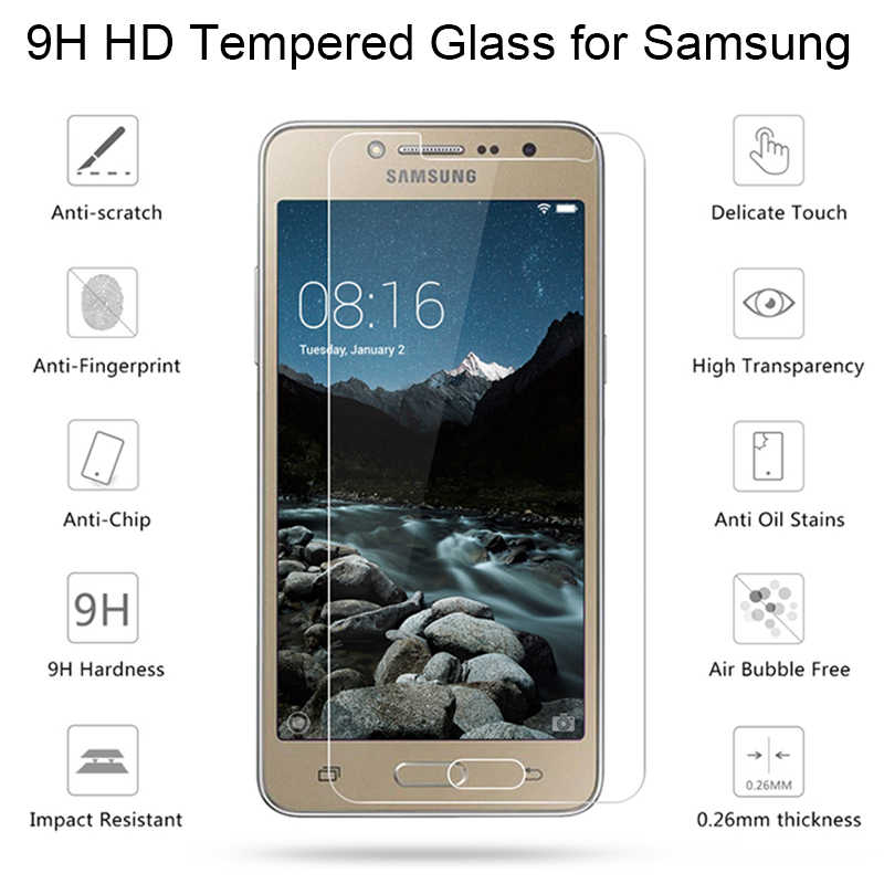 2pcs! Toughed 9H HD Tempered Glass Protective Glass for Samsung J8 J7 J6 J4 Plus J3 Screen Protector on Galaxy Note 7 5 4 3 2
