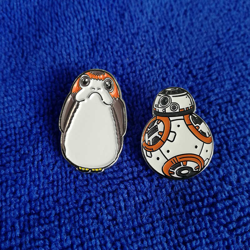 Star Wars Porg Kuş ve BB8 Pin Seti