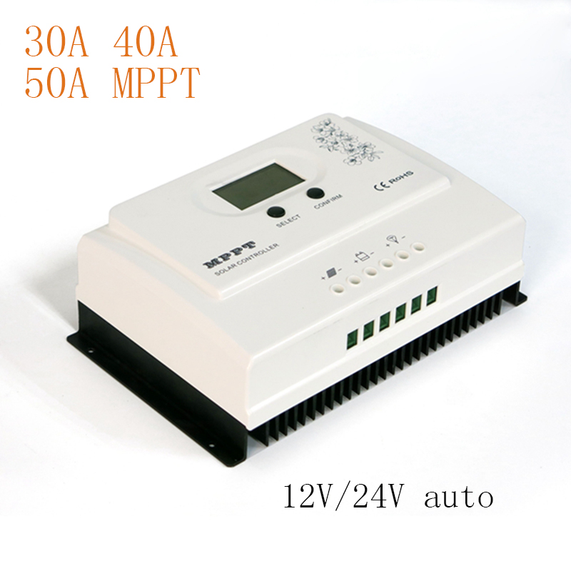 MAYLAR Wiser2 MPPT 30A 40A 50A Solar Charge Controller 12V 24V Auto for Max. DC 150V Input PV Battery Regulator with USB 5V3A mppt 30a solar charge controller remote meter mt50 epsolar 30a mppt 150v pv battery panel regulator 12v 24v dc auto charger