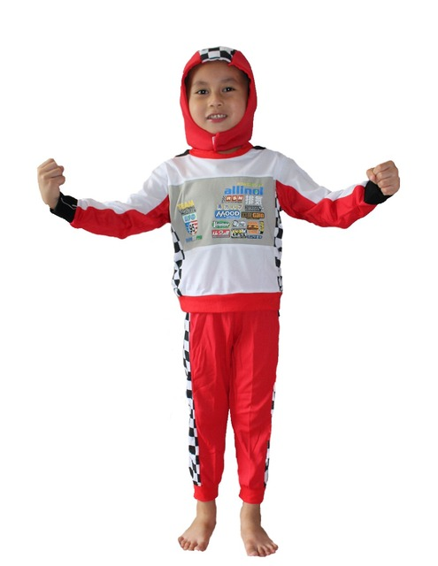 halloween costumes childrens cosplay clothing role playing auto racing suit model clothing 801 size