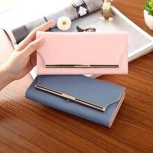 Soperwillton marke design 2016 neue damen brieftaschen feste pu-leder mode frauen geldbörse lange brieftasche weibliche brieftaschen