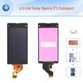 "Aaa 4.3 ""lcd negro para sony xperia z1 compact mini pantalla lcd pantalla táctil de cristal digitalizador asamblea m51w d5503 + herramientas + cinta + film"