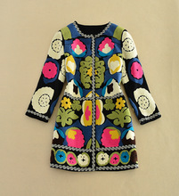 Europe Fashion 2016 Autumn and Winter High Quality Wool font b Jacket b font Coat Embroidery