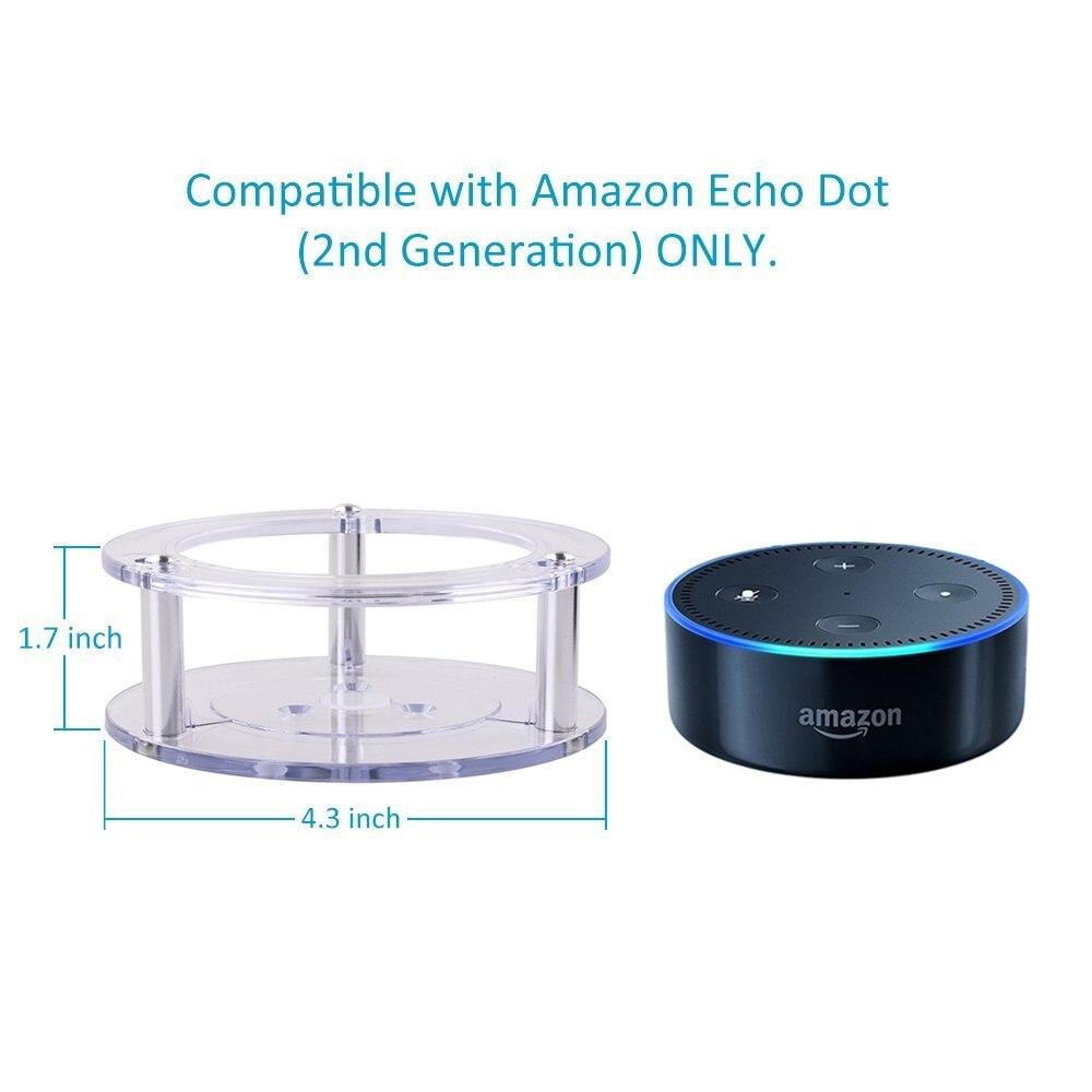 Para Amazon Alexa Echo Dot 2 Generación Soporte para altavoz Soporte - Audio y video portátil - foto 5