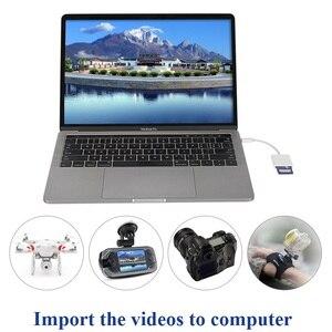 Image 5 - Tipo c leitor de cartão sd câmera kit compatível não precisa aplicativo usb c otg cabo de dados para xiaomi 6 galaxy s8 macbook pro