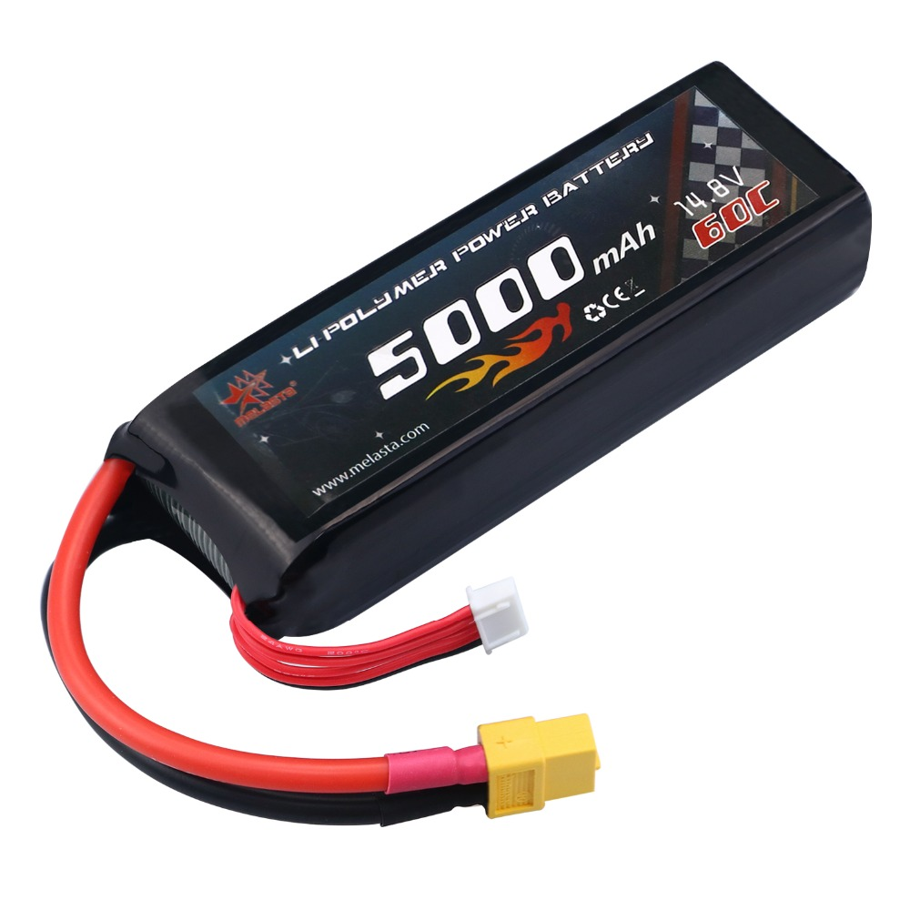 Melasta 14.8V 5000mAh 60C 4S Lipo RC Battery lithium ion batteries with XT60 Plug Connector lipo Battery