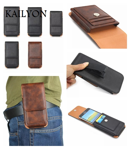 KAILYON For HTC one M7 M8 M9 For Samsung Galaxy S8 For Sony Xperia Z2 Z3 Z4 Z5 For Huawei Xiaomi Clip Belt Card Slot Waist Bags