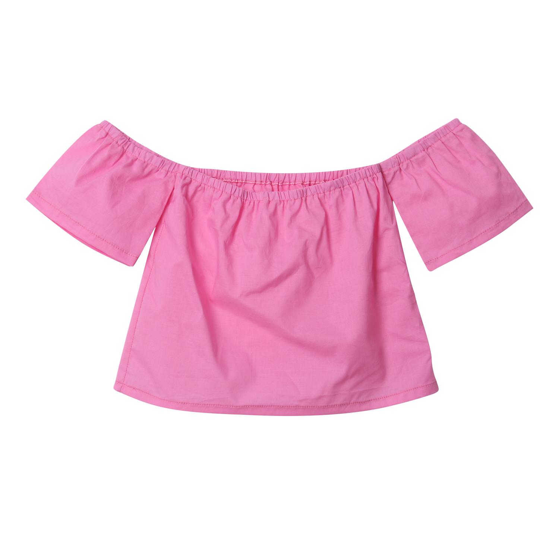 HTB1MxGpSFXXXXcGXpXXq6xXFXXXL - 2018 Baby Girls Blouses Fashion Toddler Infant Baby Kids Girls Off-shoulder shirt Tops Casual Summer Clothes