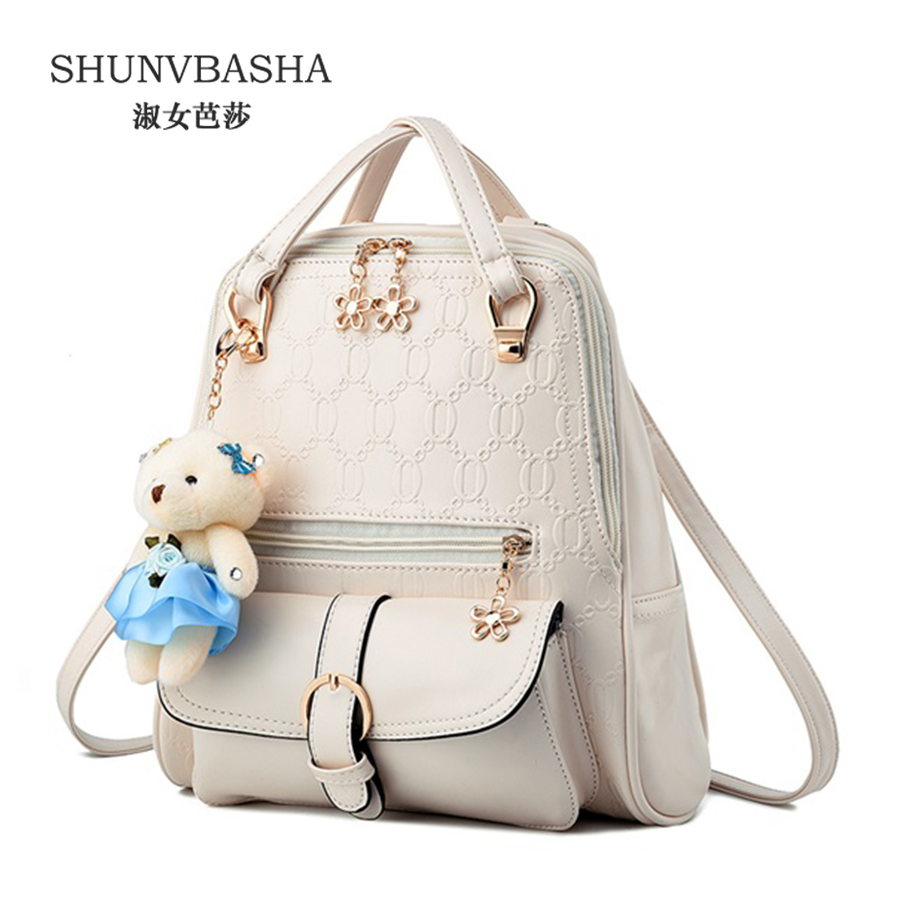 ФОТО New 2017 spring and summer women backpacks PU Leather fresh cute students shoulder bags fashionable mixed colors female backpack