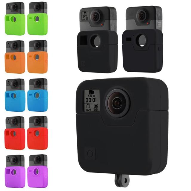 US $6 99 |Binmer Silicone Protector Accessories Case for GoPro Fusion 360  Silicone Housing Case Skins Cover DE28 Drop Shipping-in Camera/Video Bags