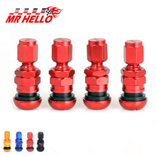 цена 4Pcs Universal Aluminum Alloy Car Tubeless Wheel Tire Valve Stems Dust Cap Cover Automobile Metal Tyre Valve Core онлайн в 2017 году