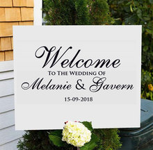 Custom Wedding Decal Personalized Bride And Groom Name,date,Welcome To The Sign Sticker Art Decor Gift Mural WE07