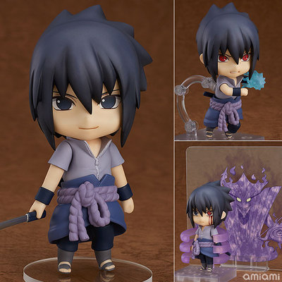 J Ghee Naruto Shippuden Q Uchiha Sasuke Movable 707# Nendoroid Doll PVC Action Figure Collectible Model Toy Brinquedos ynynoo naruto sasuke kurama pvc action