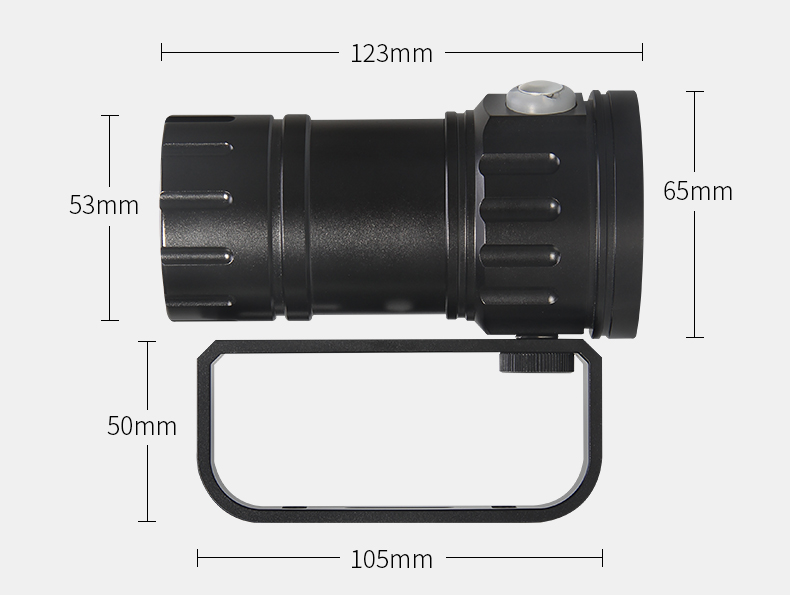 Tinhofire QH14/QH18/QH27 Waterproof IPX8 White/Red/Blue LED Diving Fill Light Flashlight LED Photography Video Scuba Light Torch