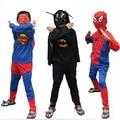 Wholesale Kids Show Cosplay Halloween Fancy 4 Design Suit Carnival Costume Superman Batman Spideman Zorro Costumes 0192