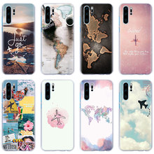 World Map Travel Plans Phone Case for Huawei P30 Pro P10 P20 Lite P Smart Plus Mate 10 20 Hard Back case cover