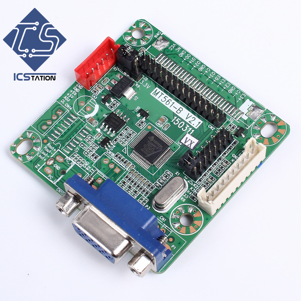 MT561-B Universal LVDS LCD Driver Controller Board Free Programming 5V for 8-42`` LCD Laptop Computer 1920*1200