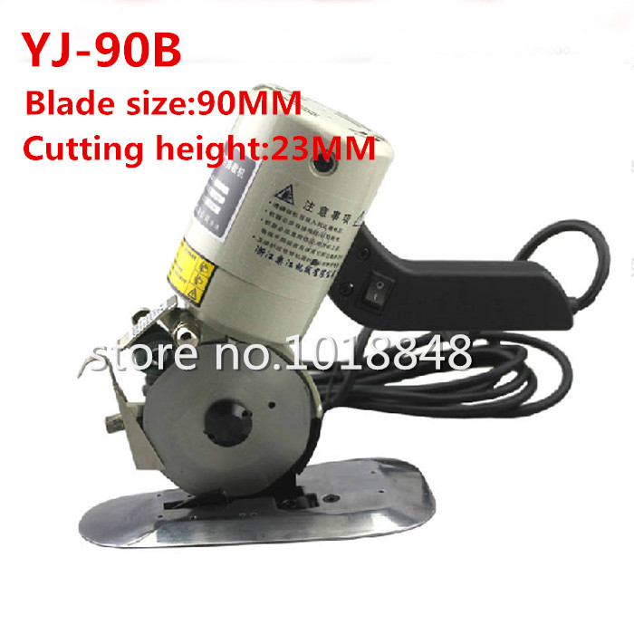 цена на 1PCS YJ-90B 90mm 8 angular Blade Electric Round Knife Cloth Cutter Fabric Cutting Machine 110V/220V Round Knife Cutting Machine
