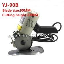 1PCS YJ-90B 90mm  8 angular Blade Electric Round Knife Cloth Cutter Fabric Cutting Machine 110V/220V Round Knife Cutting Machine