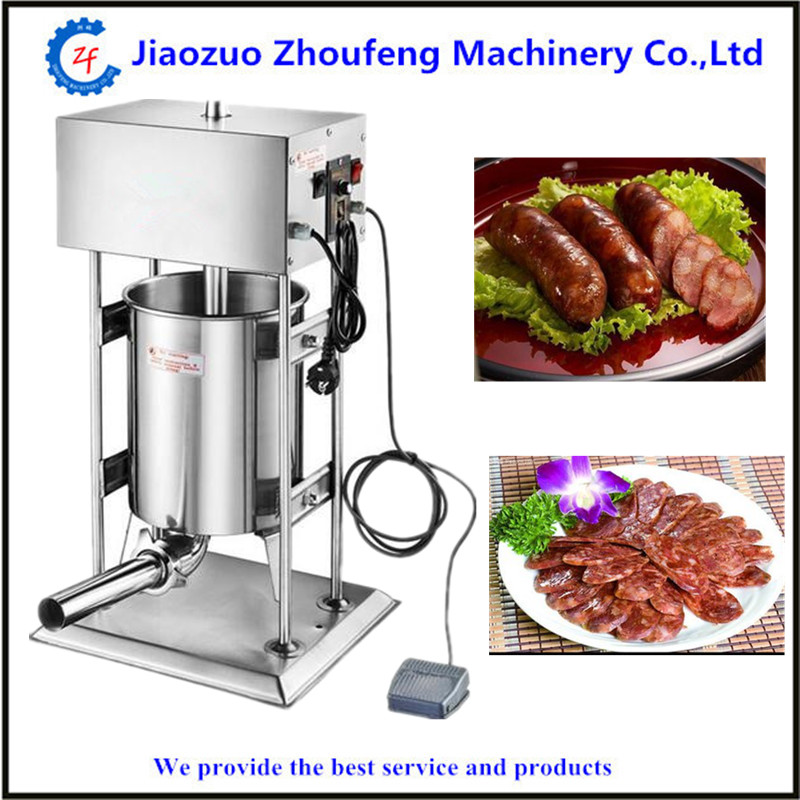 Automatic stainless steel vertical sausage stuffer meat sausage filling machine filler sausages making machinery homemade sausage meat stuffer stainless
