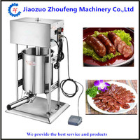 Automatic stainless steel vertical sausage stuffer meat sausage filling machine filler sausages making machinery