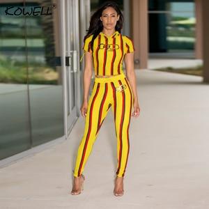 Image 5 - Stripe Casual kobiety kombinezon Romper drukowanie elastyczny dwuczęściowy garnitur kombinezon wysokiej talii Fitness Playsuit kombinezony Plus rozmiar