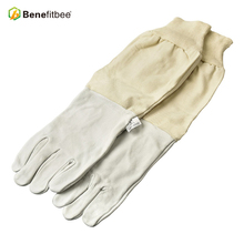 Benefitbee Bee Gloves Canvas Sheepskin Beekeeping Equipment For Apicultura Tools with Long Sleeves Tie
