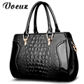 2017 NEW Brand Europe women leather handbags PU handbag leather women bag patent handbag