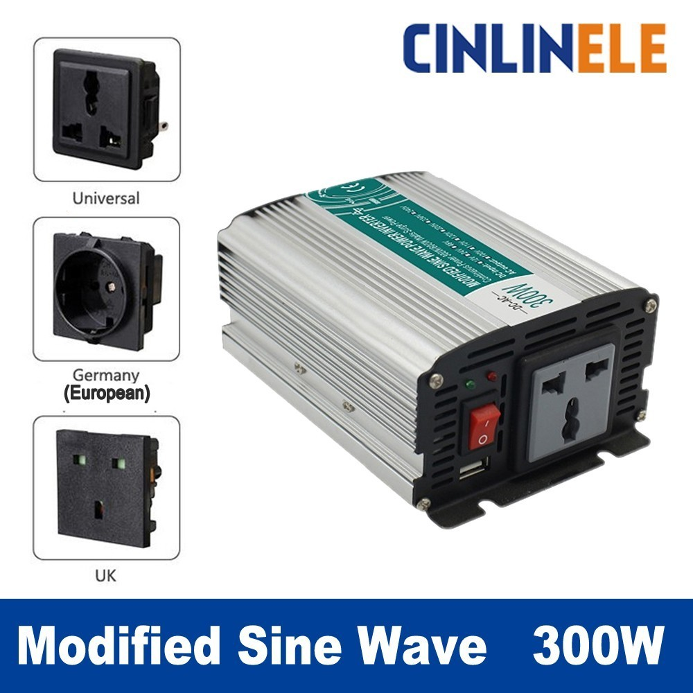 цена на Smart Modified Sine Wave Inverter 300W CLM300A DC 12V 24V to AC 110V 220V 300W Surge Power 600W Power Inverter 12V 110V