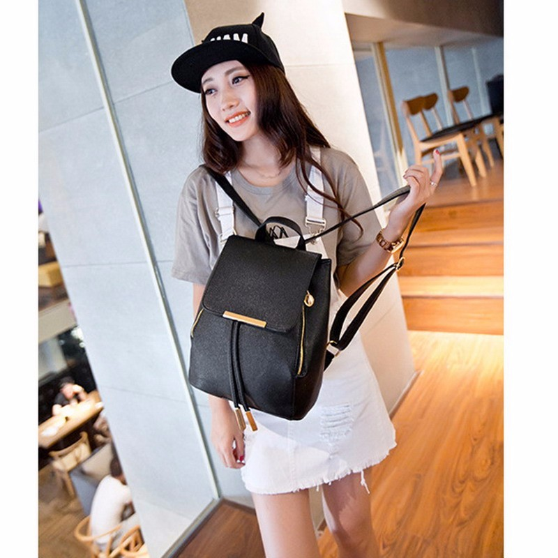 MOJOYCE New Travel Backpack Women Backpack Leisure Student Schoolbag Soft PU Leather Women Shoulder Bag Satchel Mochila Feminina new travel backpack feminine korean women fashion backpack leisure student schoolbag black soft pu leather women bag 14ba31 9 2