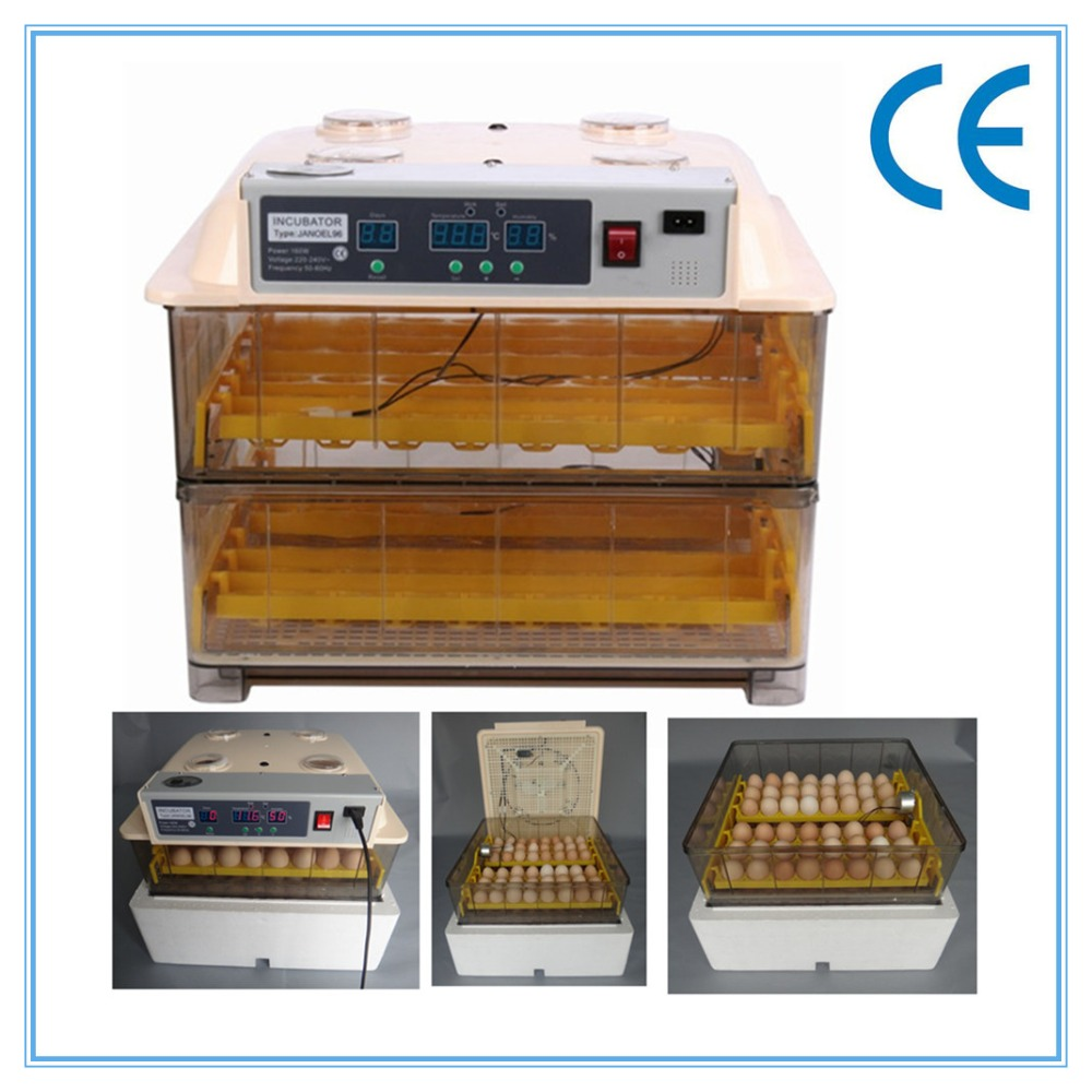 Fast ship from DE   cheap chicken egg incubator automatic  poultry 96 eggs brooder hatcher machine for sale free ship to au new sale home automatic egg incubator 56 eggs chicken incubator brooder quail eggs incubators