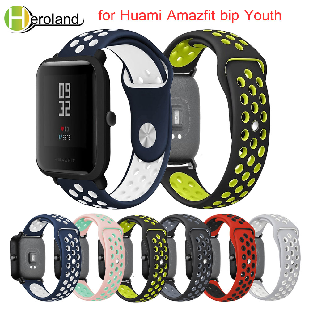 Silicone Smart Accessories Wristband Straps For Xiaomi Huami Amazfit Bip Youth Double Colorful Replacement Smart Watchband 20mm Sale Price Watchbands Back To Search Resultswatches