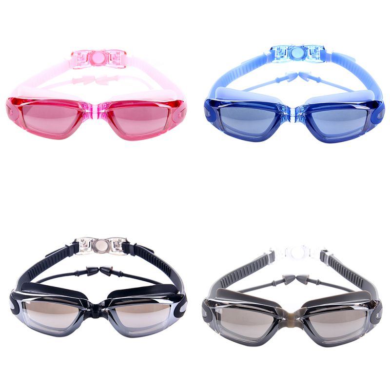 Professional Men Women Silicone Waterproof Swimming Goggles Anti Fog Sports Swimming Glasses