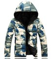 Winter Jacket Men 2016 Casual Camouflage Blue Red Army Green Fashion Thick Cotton Padded Winter Coat Men Winter Hooded Parkas