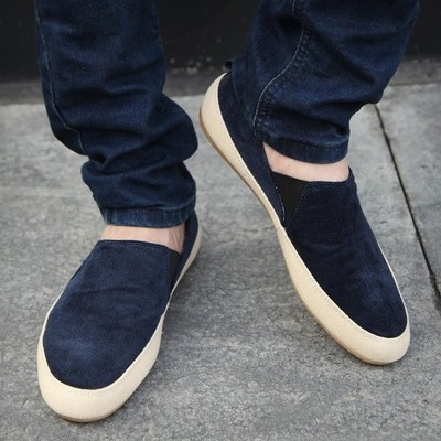 90112a1a541 Men s Zapato Del Boat Shoes Jeans Canvas Slip On Flats Loafer shoes summer  casual shoes spring autumn shoes H56-in Women s Flats from Shoes on ...