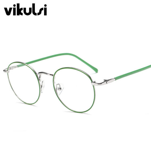 a337fe195ef83 Rosa Fino Quadro Lente Clara Óculos Para Mulheres Dos Homens do Metal óculos  de Miopia óculos