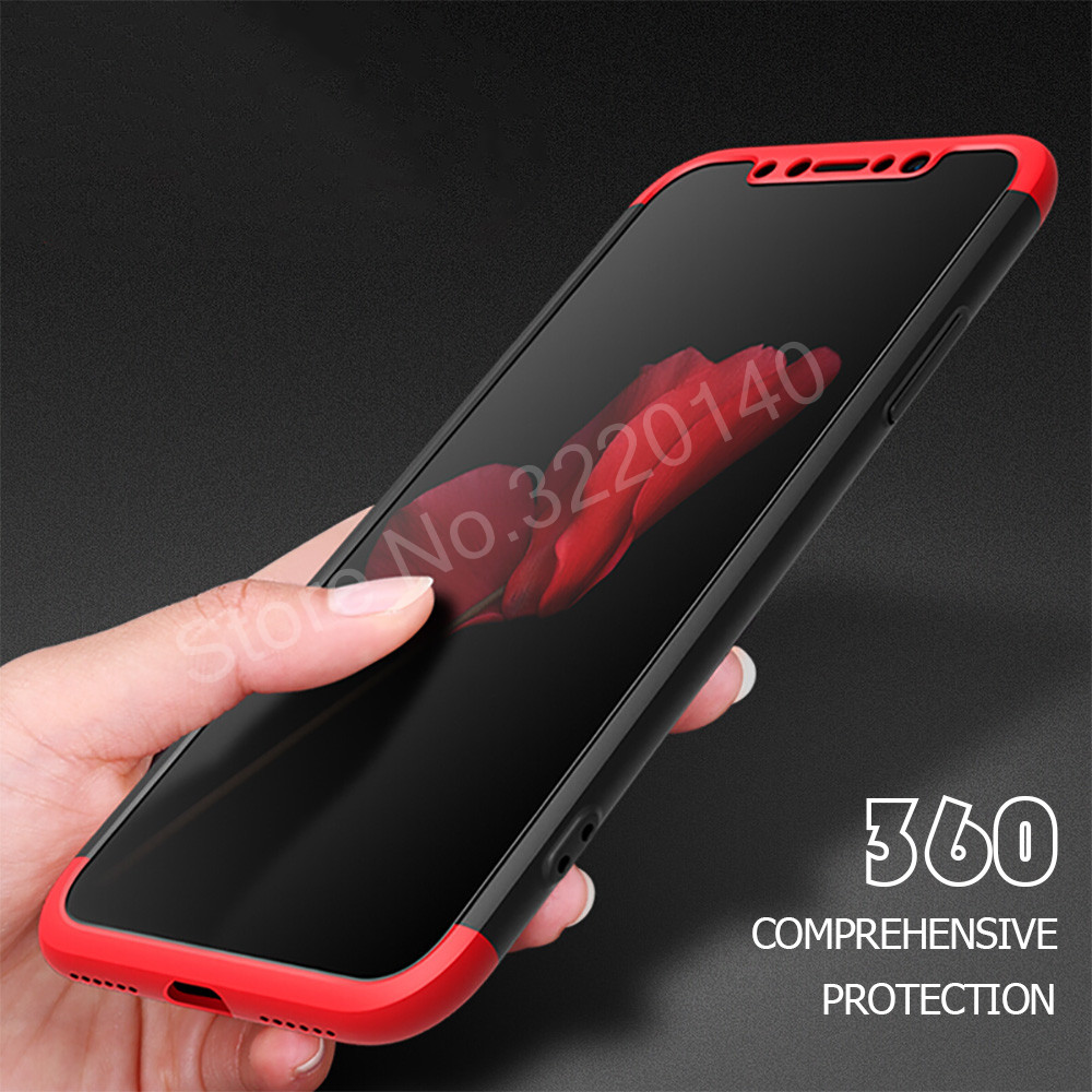 Protection Case For iphone X 6 6s plus 7 8 plus Cover Luxury PC Hard Shockproof 360 Degree Cover For iphone 8 7 plus Back Cases3