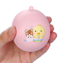 Funny Gift Cute Anti-stress Squishy Toys Lovely Soft Silicone Hand Squeeze Baby Toy Squishes Animals Bear Rabbit Toys 19June11(China)