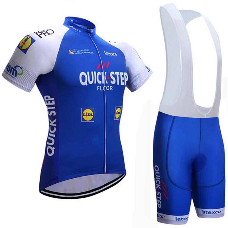 2018 PRO TEAM quick step Cycling jersey gel bike bib shorts uniformes Ropa Ciclismo mens Summer bicycle wear Maillot Culotte #62 2017 cheji pro team mens ropa ciclismo cycling jerseys gel pad bib shorts short sleeve bike bicycle wear shirts black & red