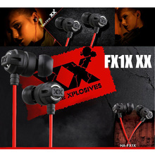 HA FX1X In Ear Stereo Earphone For Game & 3D Stereo Music With Noise Cancelling Earbuds For Mobile Phone iphone Xiaomi mp3 PC